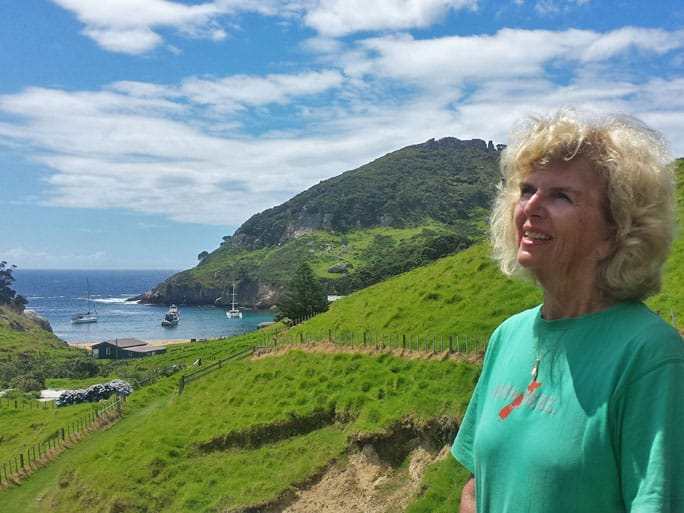 Charmaine Foster, whose family sold Rakitu Island to DOC for the benefit of the New Zealand public
