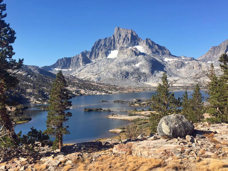 Day 21: Thousand Island Lake and Mt Banner on the John Muir Trail
