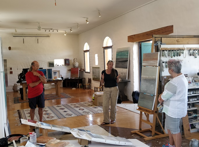 Gabrielle Lewenz art studio on Waiheke Island