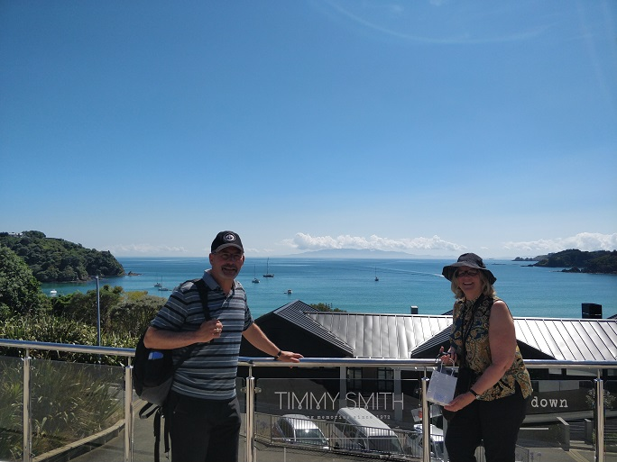 enjoying a guided walk on Waiheke Island width=