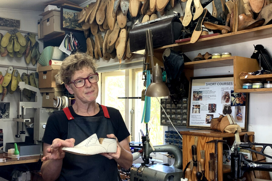 Sue Engels, Waiheke Island shoemaker