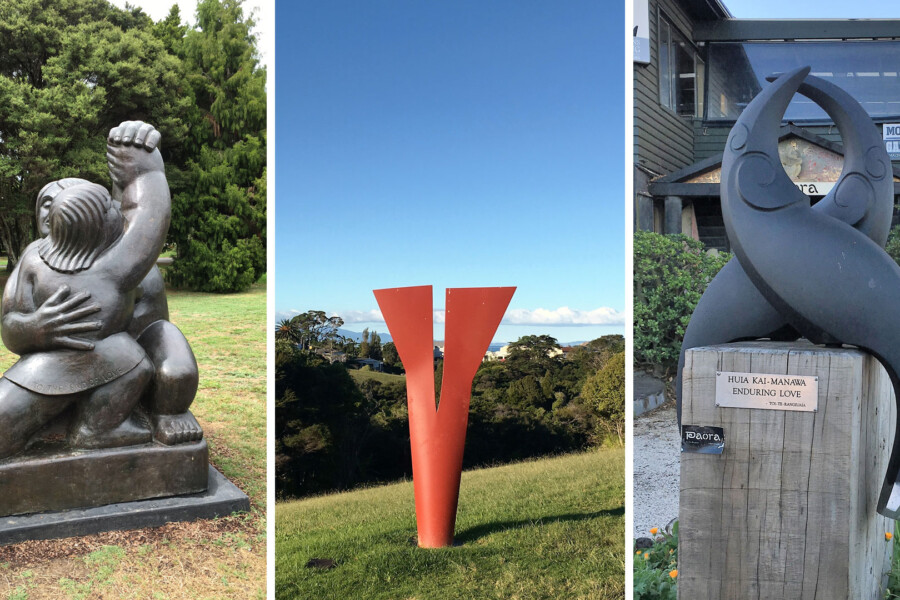 Outdoor sculptures on Waiheke Island